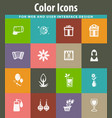 8 march icons set vector image