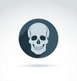a human skull in a circle Dead head abst vector image vector image