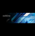 abstract technology futuristic hud gear web banner vector image vector image