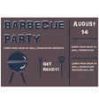 barbecue party announcement retro style vector image
