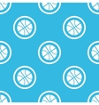 Basketball sign blue pattern vector image