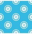 Basketball sign blue pattern vector image