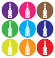 beer bottle icon set vector image vector image