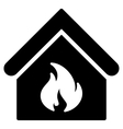 Building Fire Flat Icon vector image vector image