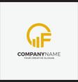 business logo financial initial cf vector image