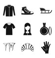 casual clothing icon set simple style vector image