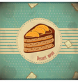 chocolate orange cake vector image vector image