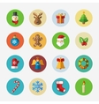 Christmas bright icons collection vector image vector image