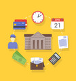 collection of flat and colorful business and vector image vector image
