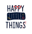 cute elements print design with slogan vector image