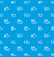 database and brick wall pattern seamless blue vector image vector image