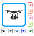 drone drop cargo framed icon vector image vector image