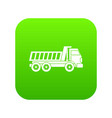 dumper truck icon digital green vector image vector image