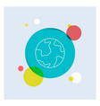 earth globe world geography discovery white line vector image