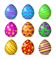 Easter color pattern vector image vector image