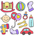 element object babies doodles vector image vector image