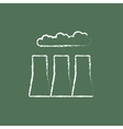 Factory pipes icon drawn in chalk vector image vector image