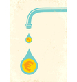 faucet and money vector image vector image