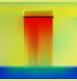fir curtain above door vector image