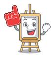 foam finger easel mascot cartoon style vector image