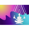 girl silhouette meditate vector image vector image
