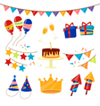 Happy Birthday Party Celebration Elements Set vector image vector image