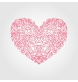 heart flowers roses vector image