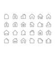 home web icon building complex garage hotel room vector image