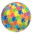 jigsaw puzzle ball template background vector image vector image