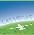 las vegas flight destination vector image vector image