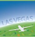 Las vegas flight destination vector image