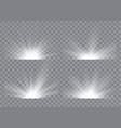 light effect stars bursts sunrise dawn vector image vector image