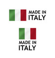 made in italy label tag template vector image vector image