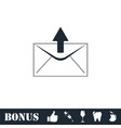 mail arrow icon flat vector image