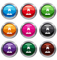 man with low battery over head set 9 collection vector image vector image