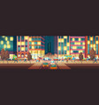 modern city street at evening cartoon vector image vector image