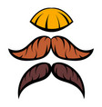mustache icon cartoon vector image vector image