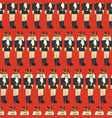 nutcracker seamless christmas pattern tile vector image vector image