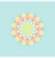 paper colored flower vector image vector image