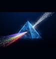 prism light spectrum 3d triangle shape vector image vector image