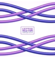 Purple crossing cables on white background vector image vector image