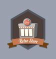 retro store shopping vector image