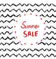 Sale background or card design with handdrawn vector image vector image