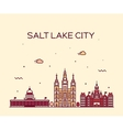 Salt Lake city skyline Utah linear style vector image vector image