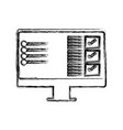 screen computer hardware vector image vector image