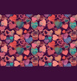 seamless background of hand drawn stylized hearts vector image vector image