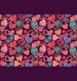 Seamless background of hand drawn stylized hearts