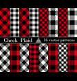 Set check plaid seamless patterns backgrounds