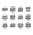 set labels Craft beer tags and elements vector image vector image