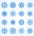set of snowflakesDecorative snowflake winter set vector image